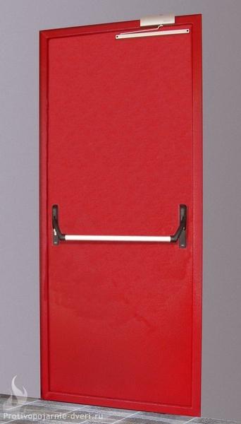 металлическая огнеупорная дверь